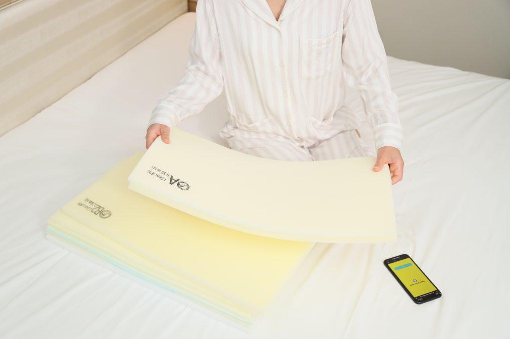 厚さの異なる多数のシート状素材で構成される「Dr.Layer」