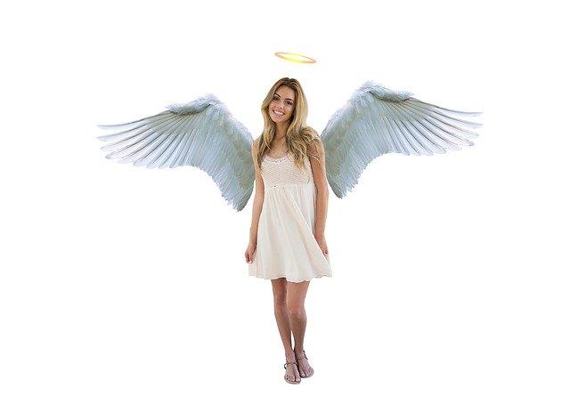 天使の円光を説明するためだけの写真